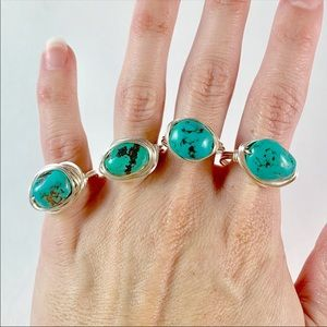 Katy Ginger Designs Jewelry - NWT KATY GINGER DESIGNS Turquoise Ring